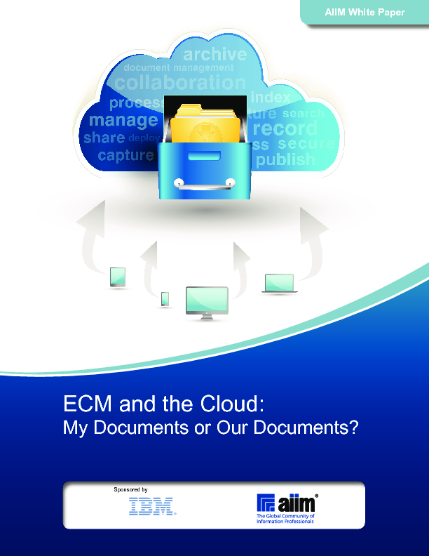 ECM and the Cloud from AIIM (Thought leader)
