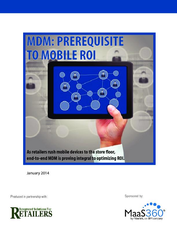 MDM: Prerequisite to mobile ROI