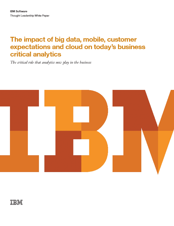 Thumb original the impact of big data  mobile  customer expectations and cloud on today s business critical analytics
