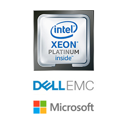 Intel dell microsoft xeon platinum