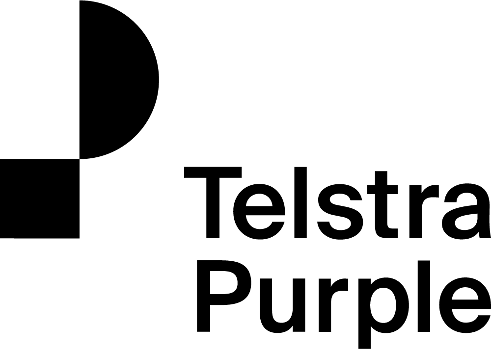 Telstra purple logo rgb black