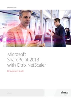 Thumb microsoft sharepoint 2013 with citrix netscaler