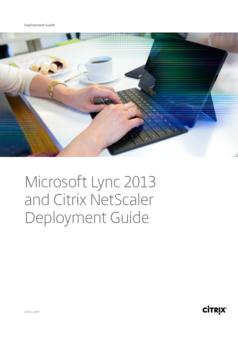 Thumb microsoft lync 2013 and citrix netscaler deployment guide