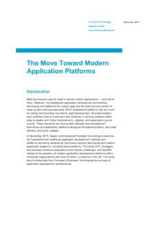 The Move Toward Modern Application Platforms