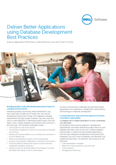 Thumb deliver better applications using database development best practices technicalbrief 15481