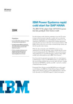 Thumb ibm power systems rapid cold start for sap hana