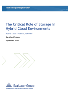 Thumb the critical role of storage in hybrid cloud environments
