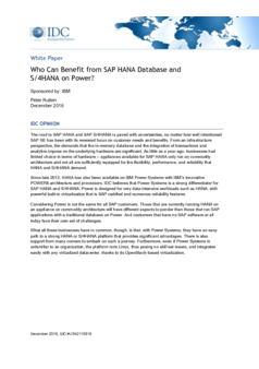 Thumb who can benefit from sap hana