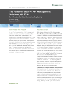 Thumb the forrester wave api management