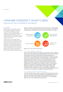 VMware Horizon 7 – What's New