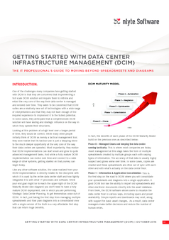 Thumb getting started with dcim nlyte software   white paper
