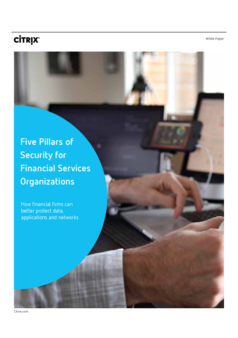 Thumb five pillars of security for financial services organizations
