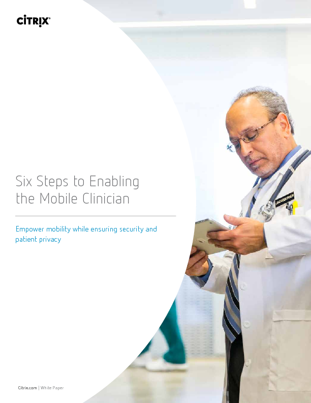 Thumb original six steps enabling the mobile clinician