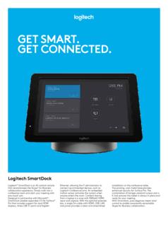 Get smart. Get connected. Logitech SmartDock