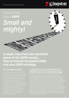 Time to think about GDPR - Small and mighty!
