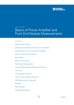Basics of Power Amplifier and Front End Module Measurements