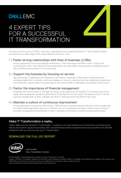 4 Expert Tips for a Successful IT Transformation