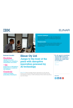 Elinar Oy Ltd: Jumps to the front of the pack with disruptive innovation powered by AI technology