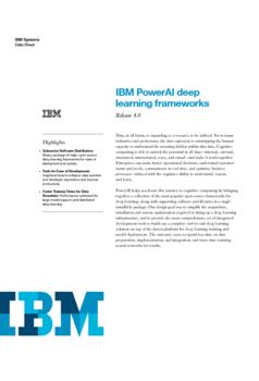 IBM PowerAI deep learning frameworks Release 4.0