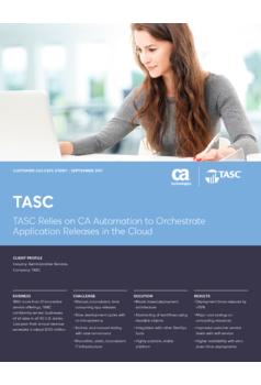 Thumb tasc relies on ca automation to orchestrate application releases in the cloud 1