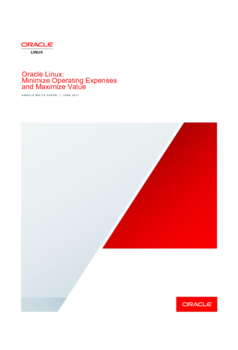 Oracle Linux: Minimize Operating Expenses and Maximize Value