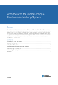 Thumb architectures for implementing a hardware in the loop system