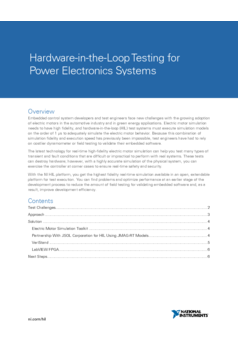 Thumb hardware in the loop testing for power electronics systems