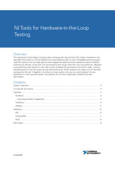 NI Tools for Hardware-in-the-Loop Testing