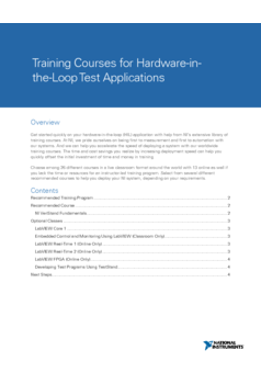 Thumb training courses for hardware in the loop test applications