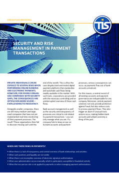 Security and Risk Management in Payment Transactions