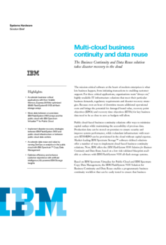 IBM FlashSystem 9100: Multi-cloud business continuity and data reuse