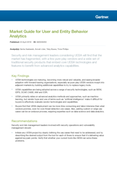 Market Guide for User and Entity Behavior Analytics