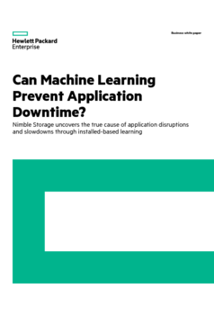 Thumb nimble storage can machine learning prevent application downtime   en  1