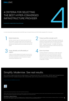 Thumb 4 key criteria for selecting best hci provider
