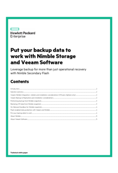 Thumb put your backup data to work with nimble storage and veeam software uk
