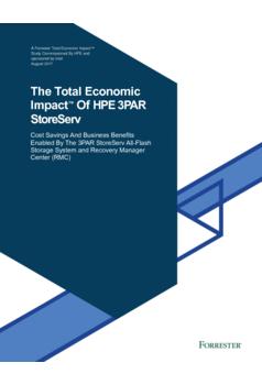 Thumb the total economic impact of the hpe 3par storeserv uk