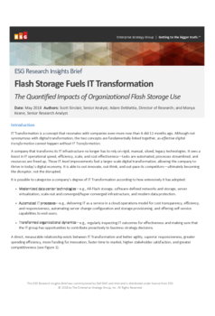 Thumb third party report esg flash storage fuels it trandormation brief
