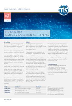 TIS PayGrid: Simplify sanction screening
