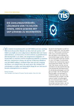 Die Zahlungsverkehrslösungen von TIS helfen Ihnen, Ihren Gewinn mit SAP S/4HANA zu maximieren