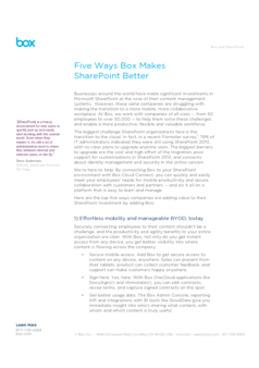 Thumb five ways box makes sharepoint better