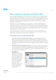 Thumb why customers use box with office 365