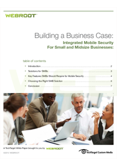 Thumb webroot building mobile business case