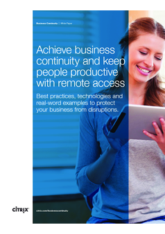 Achieve business continuity and keep people productive with remote access