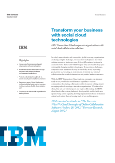Thumb ov13671 ibm connections solution brief transform your business with social cloud technologies eps12355usen