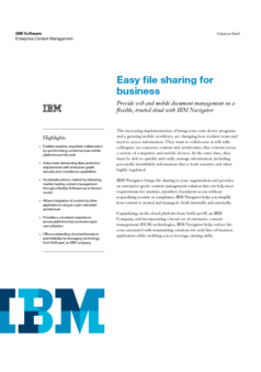 Easy file sharing for business