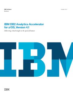 Thumb ibm db2 analytics accelerator for z os version 4.1