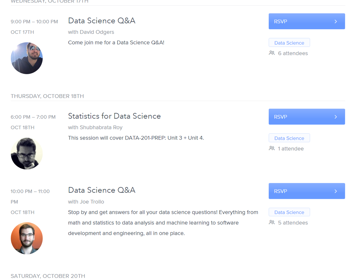 Data Science Q A sessions · Thinkful