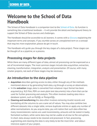 School of Data Handbook