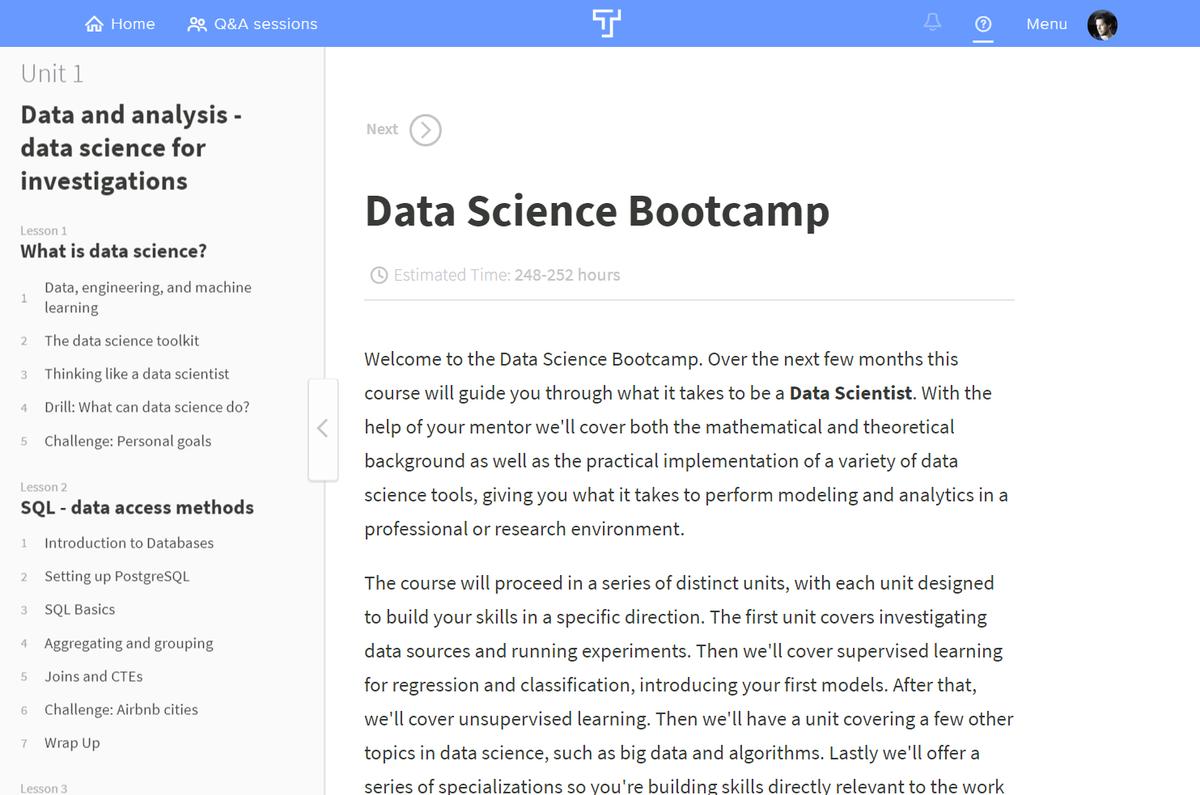 Thinkful Bootcamp Curriculum