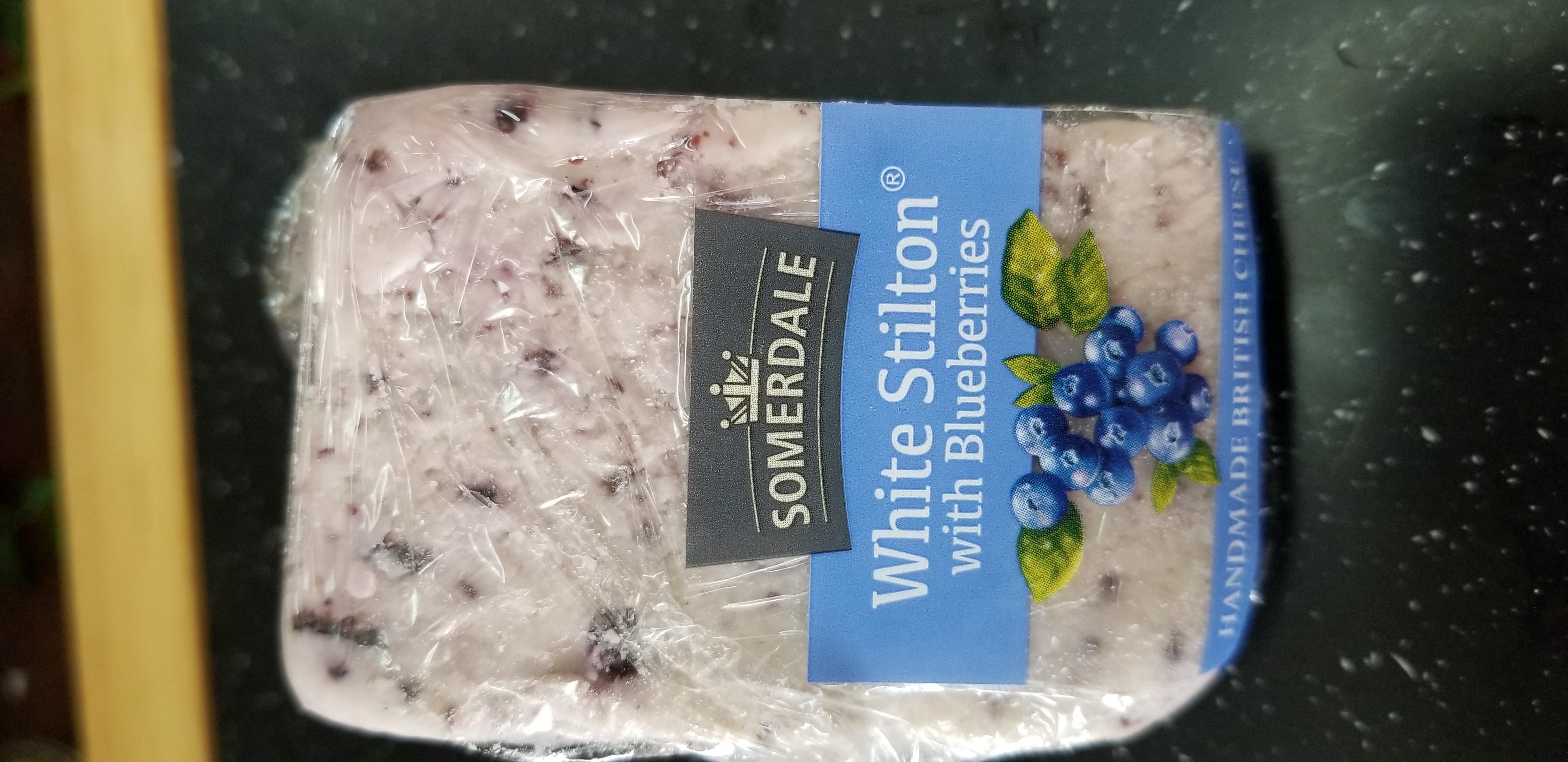 White Stilton with Blueberries